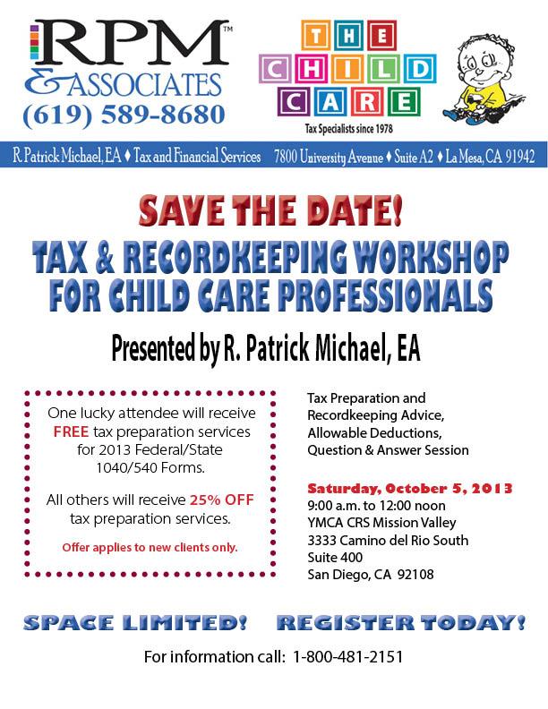 Tax & Recordkeeping Workshop