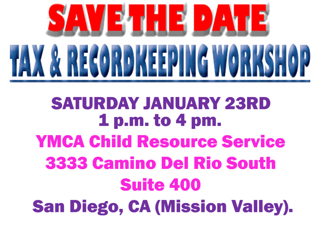 Tax & Recordkeeping Workshop for childcare providers