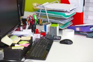 Desk Clutter shutterstock_143559919