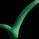 1 Green Checkmark