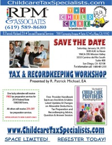 January 24, 2015 T&R Workshop Flyer for YMCA CRS